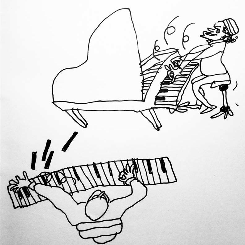 Vincino per Simone Carella_Opening Concerts_1980